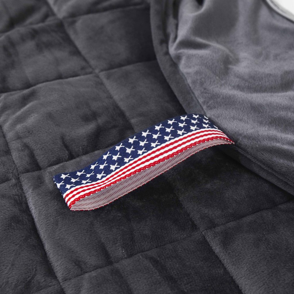 Weighted blanket and pillow perfect for vacations